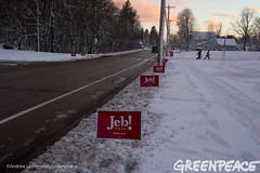 Signs Line The Road (Greenpeace USA 2015) Tags: usa democracy newhampshire concord vote republican democrat keepitintheground