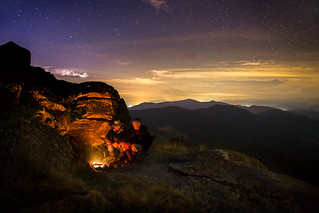 Keeping warm... Grassy Ridge, North Carolina