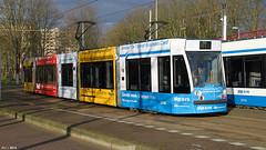 GVB - Siemens Combino (13G/C1), 2098 (GVB-Mobiliteitsfabriek), tram 7, Insulindeweg (Amsterdam) (FLJ   Public Transport and Aviation Photography) Tags: holland netherlands amsterdam publictransportation reclame nederland thenetherlands siemens 7 tram line east advertisement publictransport 13g trams c1 terminus gvb ov openbaarvervoer lijn combino indischebuurt flevopark 2098 flevoparkbad ovchipkaart insulindeweg tramlijn ovchipcard gemeentevervoerbedrijf strasenbahn combinoadvanced itravelbusinesscard mobiliteitsfabriek