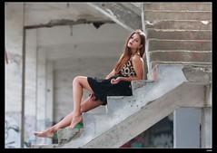 nEO_IMG_DP1U6754 (c0466art) Tags: africa portrait black west portugal girl beautiful canon pose island blood model action gorgeous ruin style skirt professional short marta charming elegant sao  tome 1dx c0466art