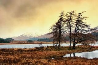 Loch Tulla during the heavy rain