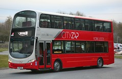 Transdev York 3608 X8 VTD leaving Blackburn en route to York. (Gobbiner) Tags: