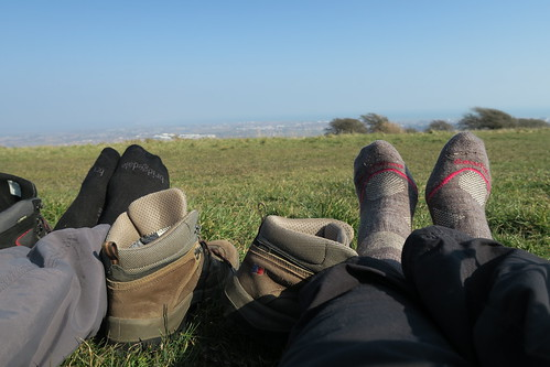 Top toe wiggling on Willingdon Hill
