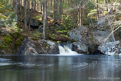 6watermark (Brian M Hale) Tags: trees pool ma waterfall pond woods rocks massachusetts brian falls mass hale secluded royalston brianhalephoto