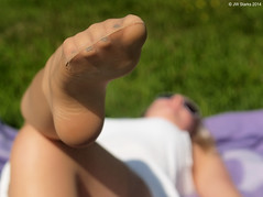 20140817_in Nylons (FBY1K) Tags: summer feet stockings germany foot toes arches soles footfetish nylons
