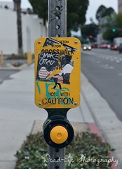 Yellow Buttons Guiding People (kaylaraecampbell) Tags: street old art yellow outside downtown riverside defaced calfornia inlandempire downtownriverside