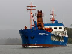 Draga Ernesto Pinto Lagarrigue (Calvipitecus) Tags: chile barco valdivia draga ríovaldivia canonpowershotg15 calvipitecus dragaernestopinto