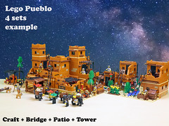 Lego Pueblo C2 (giorgio.chronas) Tags: arizona verde america mexico lego native pueblo western taos ideas acoma mesa zuni