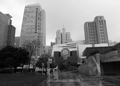 Rainy Sunday in San Francisco (JB by the Sea) Tags: sanfrancisco california urban blackandwhite bw sfmoma financialdistrict yerbabuenagardens sanfranciscomuseumofmodernart march2016