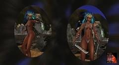 RYL Arueils Ninjato & Mamba Bow (rosabellarosesl) Tags: gm ninja bow weapon sword bogen waffe schwert slphoto arueil