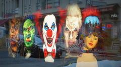 INCUBI URBANI (Skiappa.....v.i.p. (Volentieri In Pensione)) Tags: berlino maschere terrore terrifiche vetrina panasonic lumix skiappa