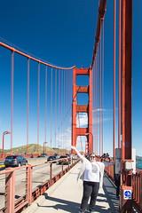 Chiara on the Bridge (chiaraogan) Tags: sanfrancisco california goldengatebridge chiara peo bridgewalk chaptergr