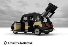 Renault 4 Parisienne (1968) (lego911) Tags: auto paris france classic car cane wagon french model lego render 4 renault hatch 1960s 1968 1970s 1980s 4l economy luxe compact cad hatchback povray 5door moc parisienne ldd miniland 5dr lego911