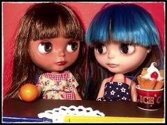Blythe-a-Day April#27 Orange: Dafinah & Georgie