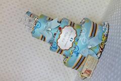 Bikes Baby Diaper Cake Shower Centerpiece (Dianna's Diaper Cakes) Tags: girls baby boys cake shower diaper gift newborn centerpiece neutral