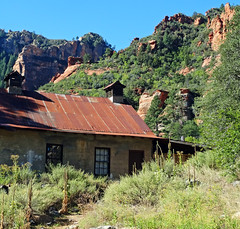 Tin Roof Barn, Oak Creek Canyon, AZ 9-15 (inkknife_2000 (6 million views +)) Tags: ranch usa barn landscapes redrocks tinroof oakcreekcanyon appleorchard sandstoneformations sliderockstatepark sedonaaz rustedmetalroof dgrahamphoto pendleyranch