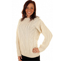 Womens fashion aran wool sweater (Mytwist) Tags: irish woman white sexy heritage classic wool girl fashion lady female fetish vintage cozy sweater fisherman fuzzy ivory craft style yarn cables blonde passion jumper knitted expensive heavy aran pullover authentic bulky laine crewneck vouge handknitted sweatergirl knitwear cabled stricken gretnagreen woolfetish aransweater handgestrickt mytwist ecury aranjumper aranstyle