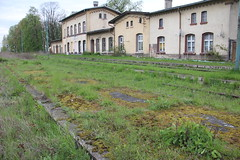 20160427 0051 (szogun000) Tags: old railroad building overgrown station architecture canon tracks poland polska rail railway disused platforms pkp lowersilesia dolnolskie dolnylsk kobierzyce canoneos550d canonefs18135mmf3556is d29285 d29310