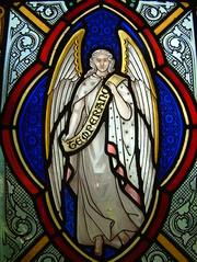 Angel of Temperance (Moominpappa06) Tags: uk england norfolk stainedglass temperance norfolkchurches sarahgoodwin thurlton thurltonallsaints angeloftemperance