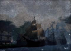 A peaceful night for pirates V2 (| Raven |) Tags: life art sl ravi works second pirateship ravishing