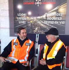 ACO du BST Jean Laporte et Directeur national d'Opration Gareautrain Mike Regimbal (BSTCanada) Tags: ottawa campagne fallowfield bst clair scurit