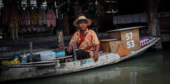 (ny_iam) Tags: travel people texture thailand boat asia ride market hats floating east tropical vendor pattaya bhat nyiam