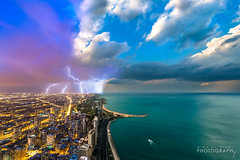 360_Blend-WEB-1 (ChiPhotoGuy) Tags: city sky lake chicago green water weather photoshop cityscape seasons cloudy surreal lakemichigan coastline lightning lakefront blend wx skyporn