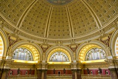 Library of Congress #1 (josullivan.59) Tags: travel sunset wallpaper usa detail texture geometric yellow architecture dc washington maple downtown day pattern unitedstates dome historical libraryofcongress readingroom 2016 canonef24105mmf4lisusm 3exp disctrictofcolumbia canon6d