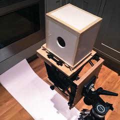 Diffuser box 1 (Mr Atrocity) Tags: camera england blackandwhite london monochrome make darkroom project diy unitedkingdom budget large chemistry printing gb intrepid 4x5 format enlarger cheap ghetto diffuser 5x4