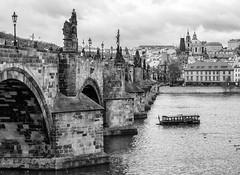 Charles bridge in Prague (LibreShot.com) Tags: city travel bridge architecture river europe cityscape republic czech prague praha msto hlavn 500px ifttt