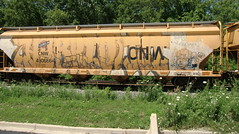 07-10-10 (24) (This Guy...) Tags: road railroad train graffiti golden box graf rip rail rr traincar boxcar graff brooks 2010 fcr seve