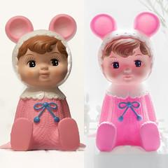 dual (Kai-Ming :-))) Tags: pink light backlight toy happy hongkong doll dof play creative twin indoor panasonic livingroom dual transparent effect backlighting kaiming dmcfz1000 kmwhk
