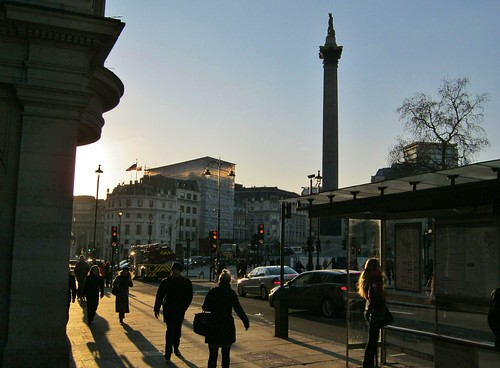 Trafalgar Square sunset 2
