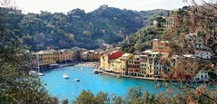 Portofino, Italy (Christian_from_Berlin) Tags: travel italien sea vacation italy holiday water beautiful boats bay coast town fishing europe view harbour liguria bluewater genoa portofino smalltown italianriviera genua mediterraneanport