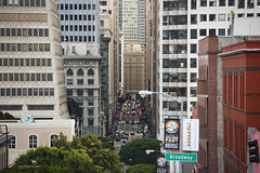 looking into the abyss (Claudia Knkel) Tags: sanfrancisco california financialdistrict montgomery transamericapyramid