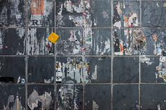 Squares (Gary Kinsman) Tags: urban texture face wall advertising poster scotland edinburgh mess chaos squares rip ripped tiles advert torn layers tear oldtown cowgate 2016 cityofedinburgh fujifilmx100t fujix100t