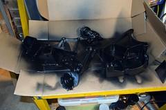 Painted01 (john.and.kath) Tags: black chevrolet painting conversion engine mount swap satin impala ls 1965 pedestal 60l l98 jrd ls2 l76 anciliarydrivebrackets