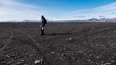 Wrecked DC-3 Plane (susanbrzozowski) Tags: mountains beach blacksand is iceland empty south oneperson vast singleperson