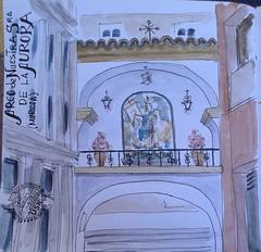 Arco de la Aurora (Fotero) Tags: watercolor arquitectura email murcia aurora acuarela arco usk cuaderno urbansketching urbansketchers cuaderno9
