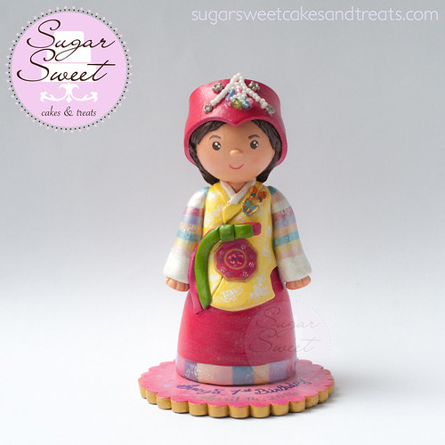 Korean Doljanchi Cake Topper, Polymer Clay
