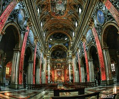 Parrocchia Santa Maria (Baz 3112) Tags: city rome building history church architecture religion perspective fisheye hdr historial hdrphotography hdrphoto hdrcollection hdrgallery