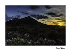 IMA_8053b Inland Sunset (foxxyg2) Tags: blue sunset night gold countryside greece greekislands cyclades naxos islandhopping islandlife