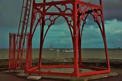 vuurtoren Vlissingen (Omroep Zeeland) Tags: landscape boulevard natuur zeeland lucht zon vuurtoren vlissingen walcheren ondergaande donkere schipholland