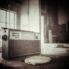 Music Box (tycampbe) Tags: old city urban music white abstract black abandoned sepia radio vintage landscape dead death hall scary solitude industrial cityscape decay interior decoration piano culture indoor retro popular retouch audio hifi urbex 500px ifttt