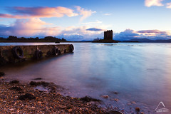Hope..., Castle Stalker, Appin (kramelliott) Tags: sunset sky colour castle nature water clouds canon landscape photography hope evening coast scotland natural little mark shoreline adventure creation shore lee nd stalker filters picturesque ef 1740mm tranquil elliott amazed grads stopper discover appin f4l eos700d
