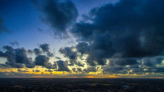 Clouds of day (Marcelo Campi) Tags: winter sunset urban clouds landscape atardecer cityscape paisaje montevideo