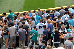 Counting the jerseys (NJ Baseball) Tags: seattle washington mariners safecofield fans seattlemariners americanleague 2015 daygame majorleagues