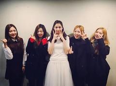 [IG] 160131 Lina with Red Velvet at Blood Orchestra Musical (redvelvetgallery) Tags: musical irene lina wendy redvelvet yeri selca seulgi thegrace