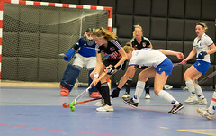 P1090608 (2) (roel.ubels) Tags: hockey rotterdam indoor 2016 zaalhockey hoofdklasse topsportcentrum