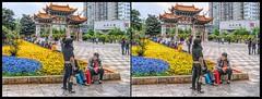 Kunming, Yunnan (China) /8 (Bruno Zaffoni) Tags: china stereophotography 3d crosseyed kunming yunnan cina stereoscopy crossview